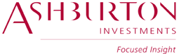 Ashburton investments - focused insights claret logo white